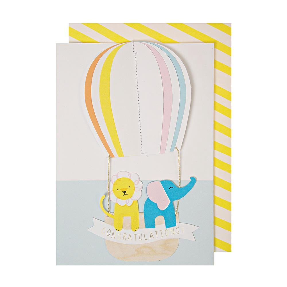 HOT AIR BALLOON CONGRATULATIONS CARD