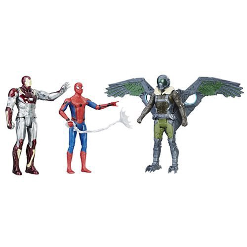 MARVEL SPIDER-MAN HOMECOMING 3 FIGURES SET