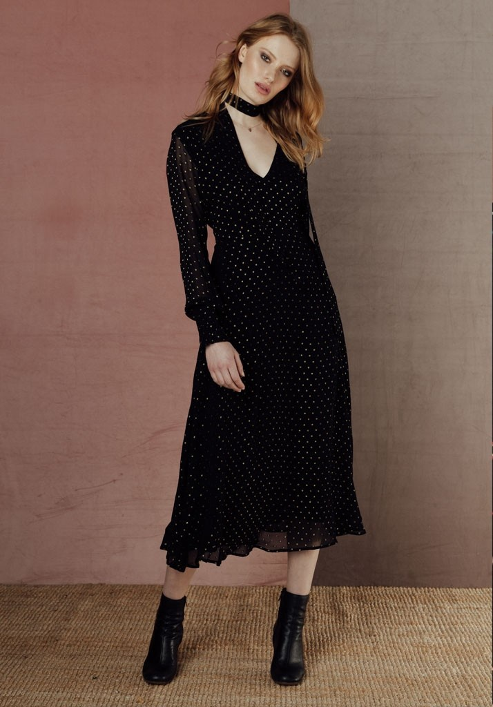 Black & Gold Lucy Dress by Lily & Lionel