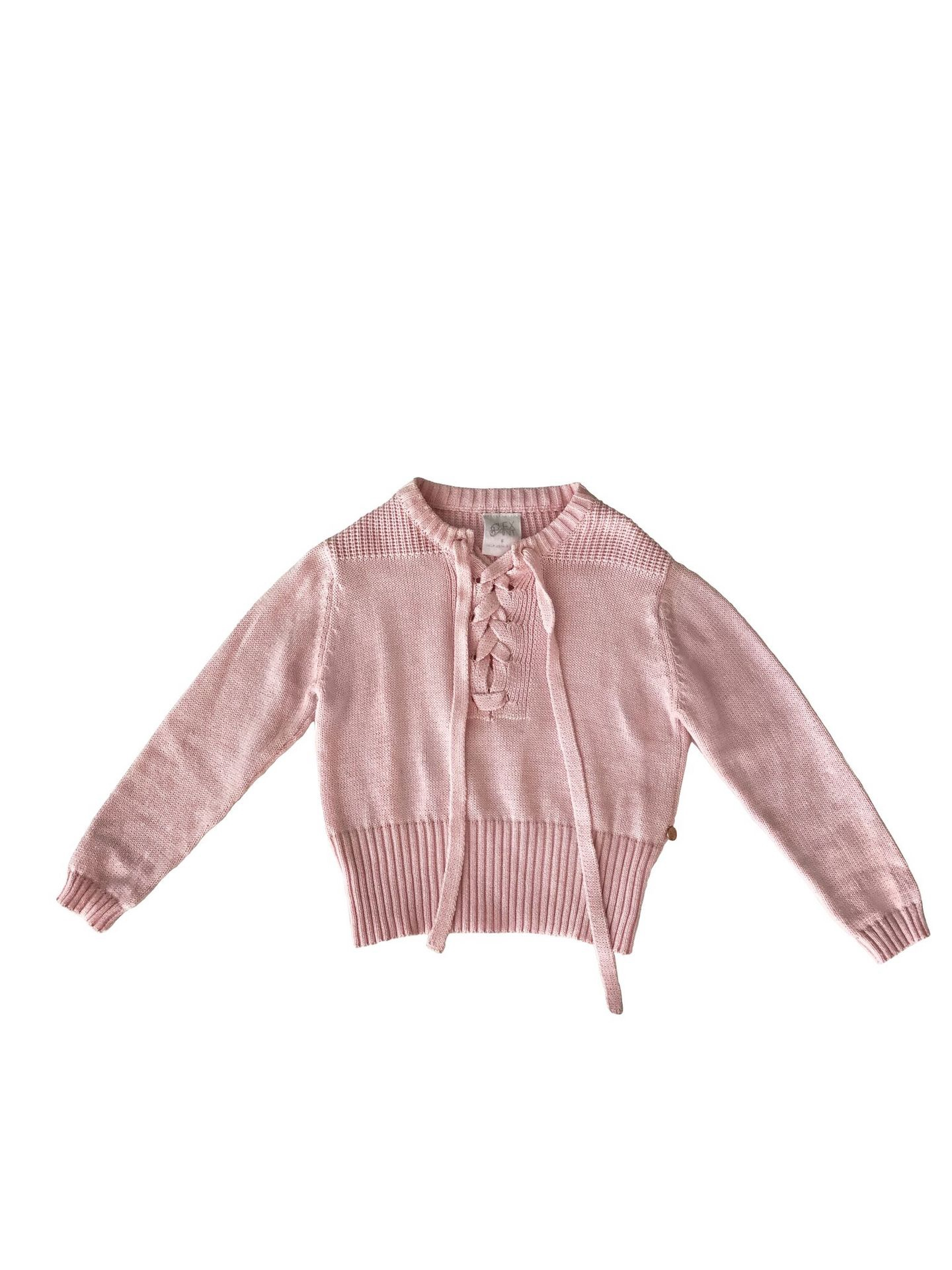 Alex and Ant Tie Up Sweater Pink