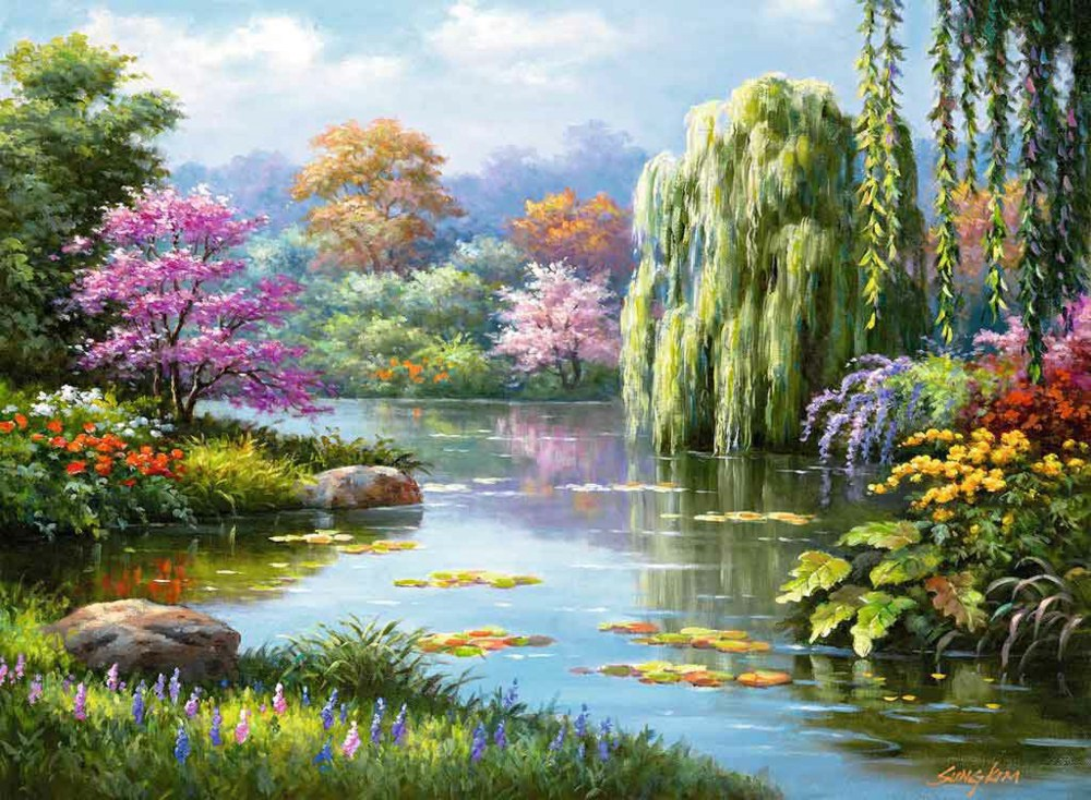 ROMANTIC POND PUZZLE 500 PCS