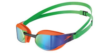 Fastskin Elite Mirror Goggles Fluro Orange/Lawn Green