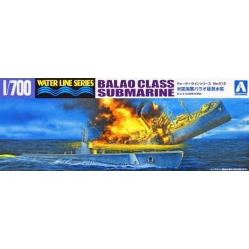 Aoshima #052099 1/700 Balao Class Submarine