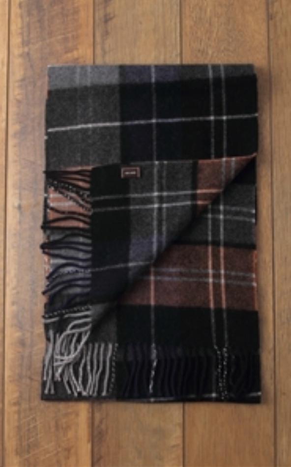 Joshua Mens Tartan Print Wool Scarf