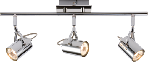 230V GU10 Triple bar Spotlight - Chrome