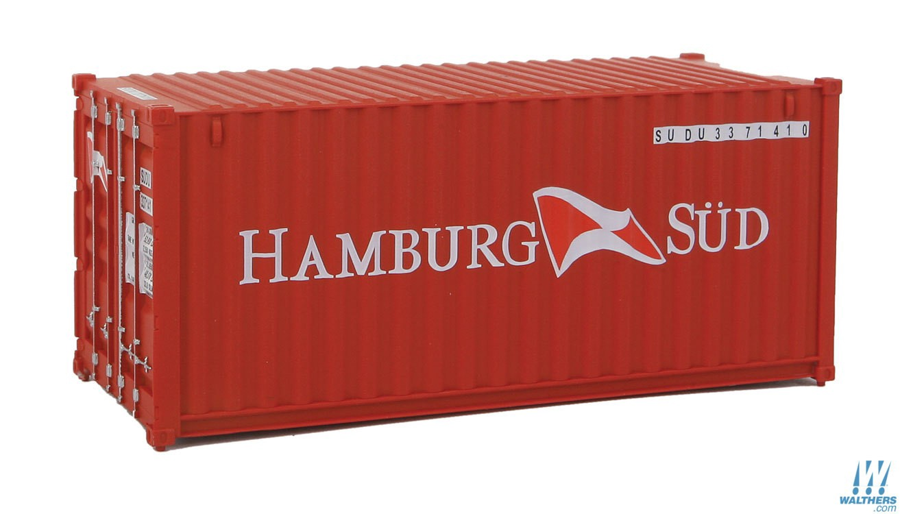 Walthers SceneMaster #949-8058  HO 20' Fully Corrugated Container