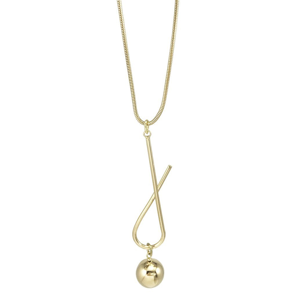 BIKO - SWAY PENDANT NECKLACE IN GOLD