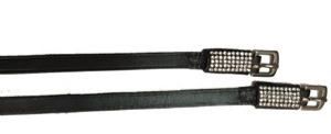 Exselle Deluxe Spur Straps with White Crystal