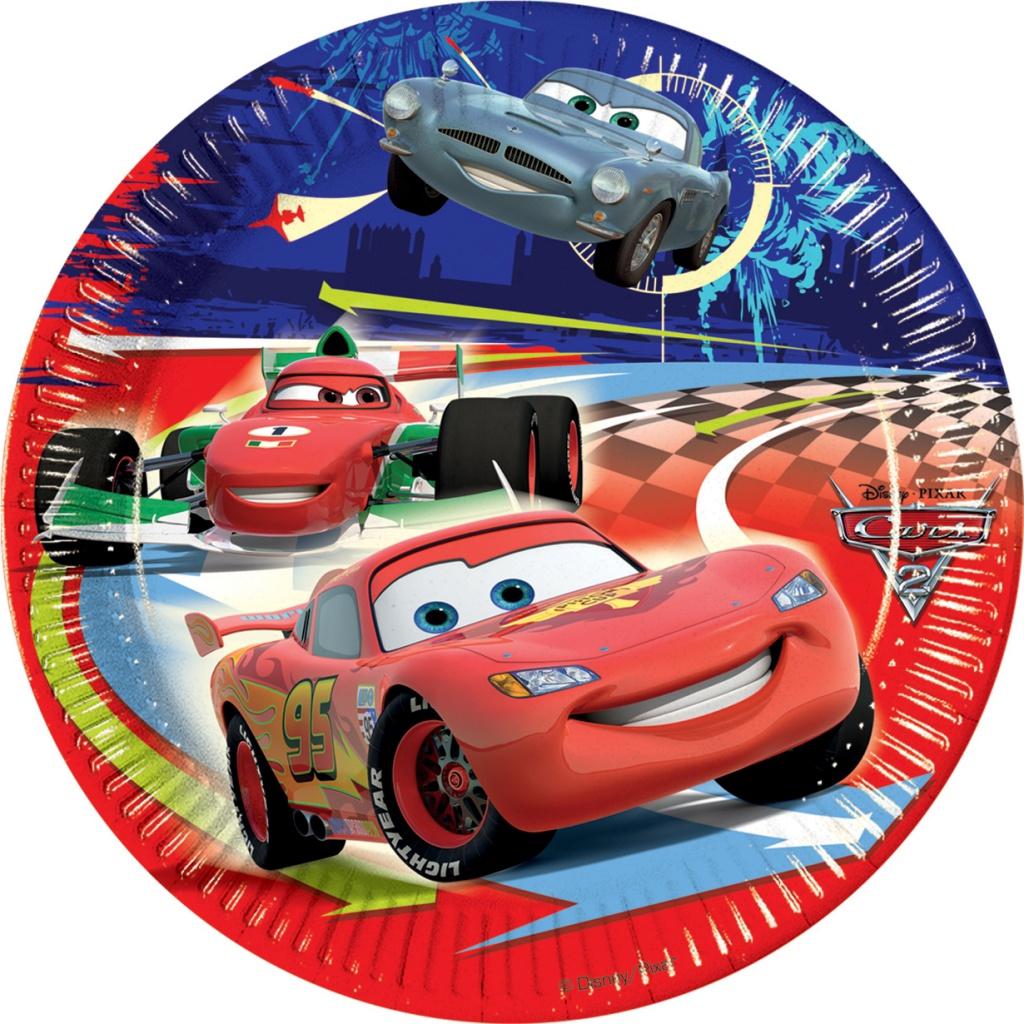 CARS 2 DINNER PLATES