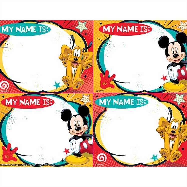 X EU 650314 MICKEY MOUSE NAMETAGS