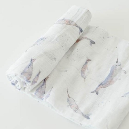 Cotton Muslin Swaddle | Narwhal
