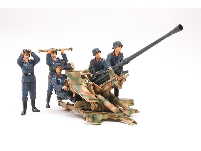 Tamiya #35302 1/35 German 3.7cm Flak 37 Anti-Aircraft Gun w/ Crew