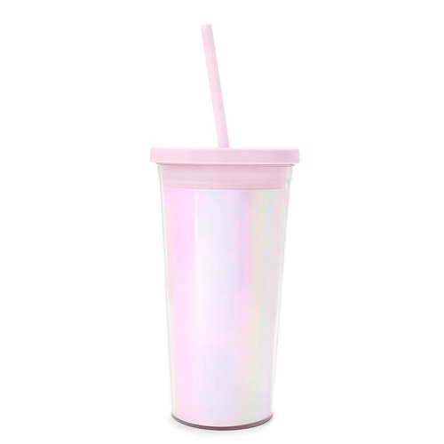 Pearlescent Sip Sip Tumbler With Straw