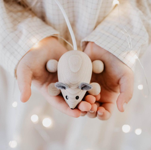 Sarah & Bendrix Small Wooden Mouse