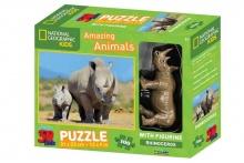 3D PUZZLE ELEPHANTS 100 PCS W/FIGURE