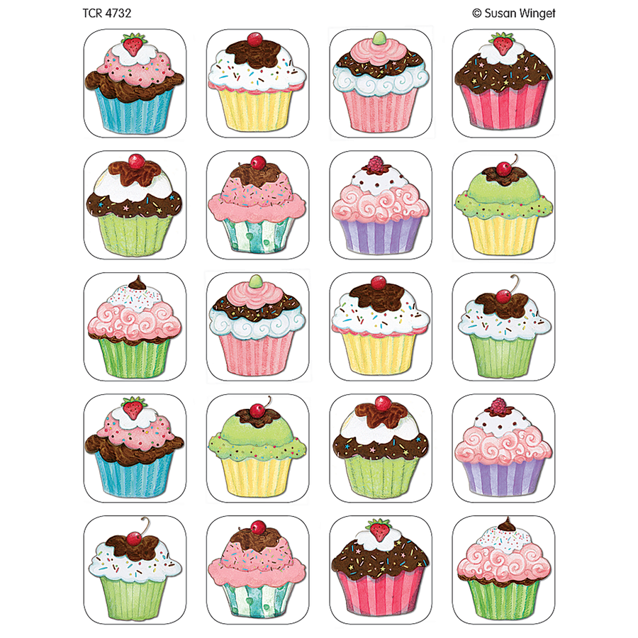 TCR 4732 CUPCAKE STICKERS 120