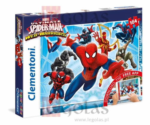 SPIDERMAN SUPER COLOR 104 PCS PUZZLE