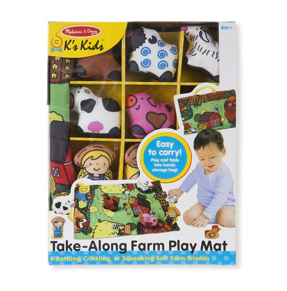 MD 9216 TAKE ALONG FARM PLAY MAT