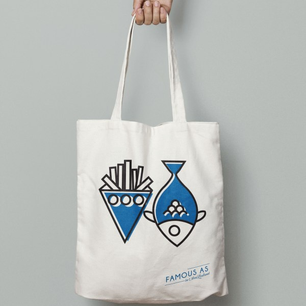 D&Y TOTE BAG - FISH&CHIPS