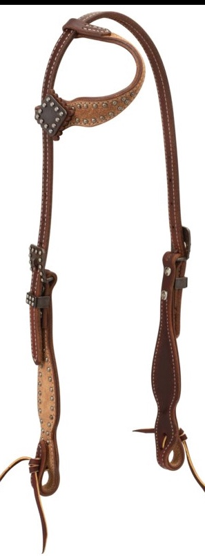 Weaver Rough Out Canyon Rose Sliding Ear Headstall