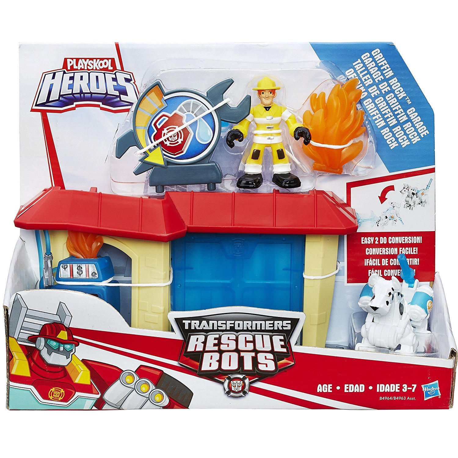 TRANSFORMERS RESCUE BOTS GRIFFIN ROCK GARAGE