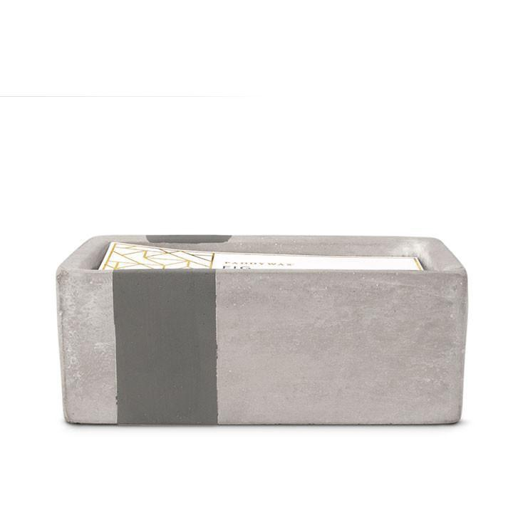 PADDYWAX - URBAN CONCRETE RECTANGLE 8 OZ CANDLE IN FIG AND OLIVE