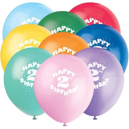 HAPPY 2ND BIRTHDAY BALLOONS