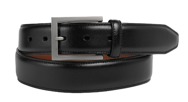 JOHNSTON & MURPHY - DRESS BELT IN BLACK