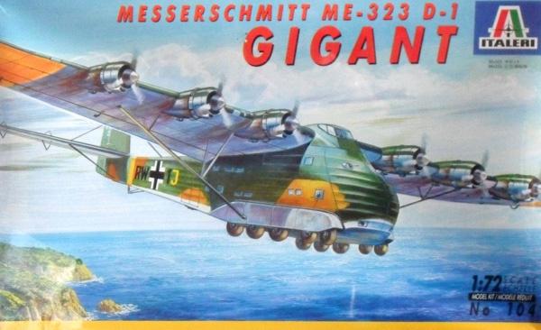Italeri #104 1/72 Messerschmitt ME-323 D-1 Gigant
