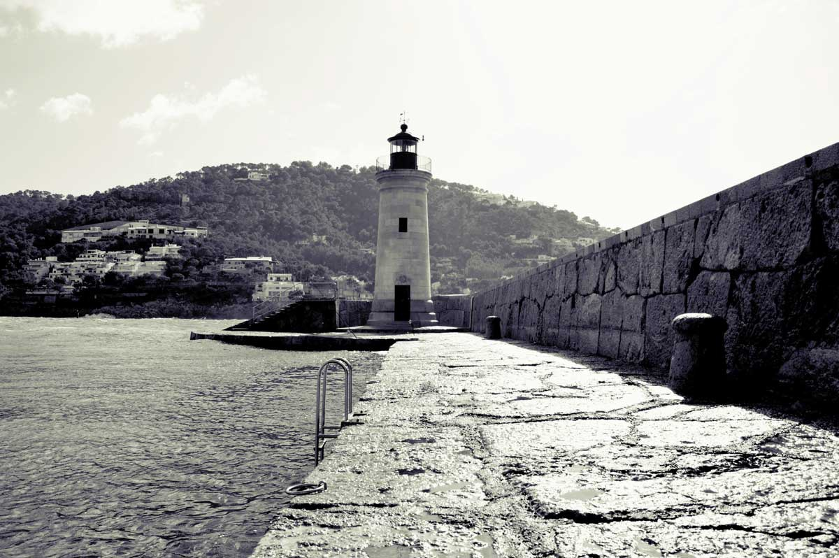 Andratx Lighthouse Black & White