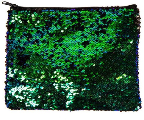 MAGIC SEQUIN POUCH MERMAID / BLACK