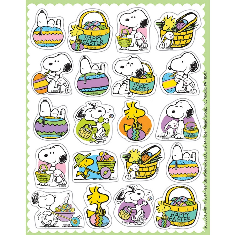 EU 655061 PEANUTS EASTER STICKERS