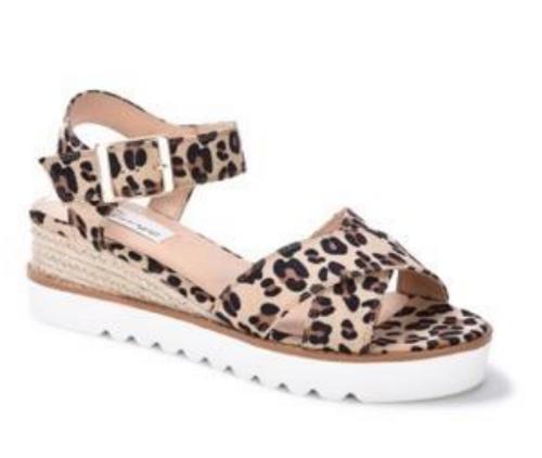 Liam White/Hemp Platform Sandal