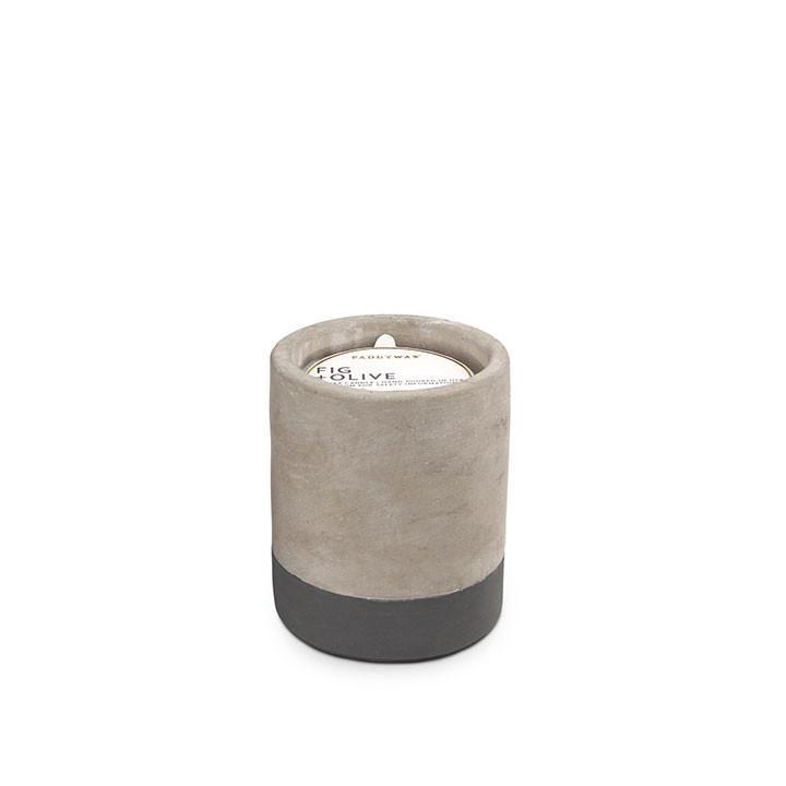 PADDYWAX - URBAN CONCRETE POT 3.5 OZ IN FIG AND OLIVE