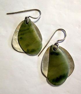 Silver and inanga earrings 1-353