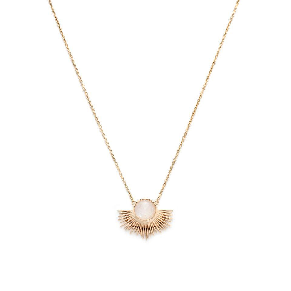 MELANIE AULD - PEGASUS NECKLACE IN GOLD/MOONSTONE