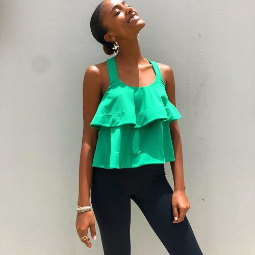 Fit & Flare Top | Garden Green