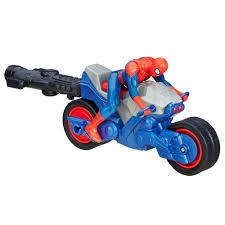 SPIDER-MAN BLAST N GO RACERS SPIDER CYCLE