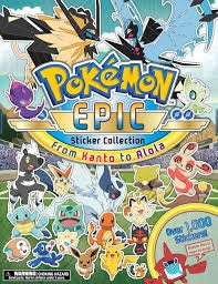 POKEMON EPIC STICKER COLLECTION FROM KANTO ALOLA
