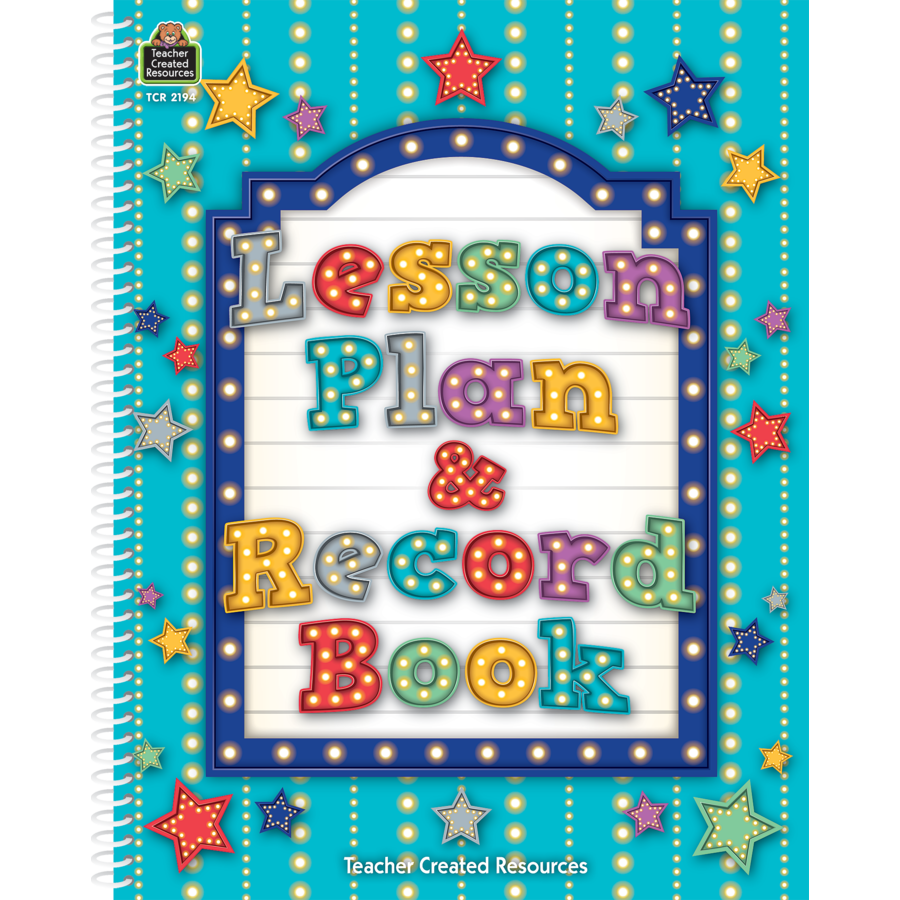 TCR 2194 MARQUEE LESSON PLAN RECORD BOOK