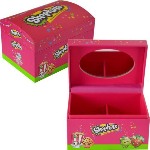 SHOPKINS JEWELRY BOX WITH MIRROR