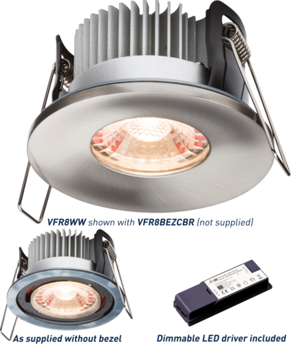 PROKNIGHT LED IP65 8W Fire-Rated Downlight 2700K