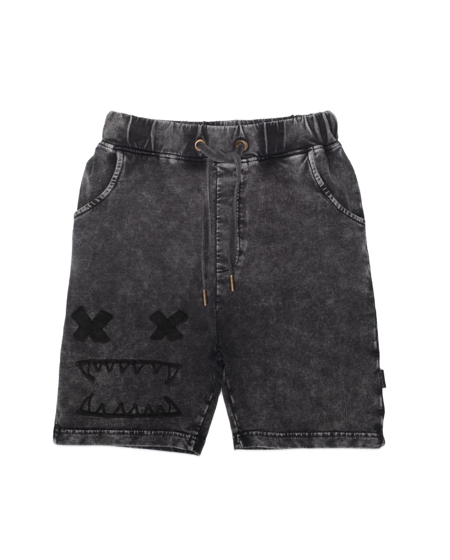BOB Bandits Cross Eyes Vintage Black Shorts