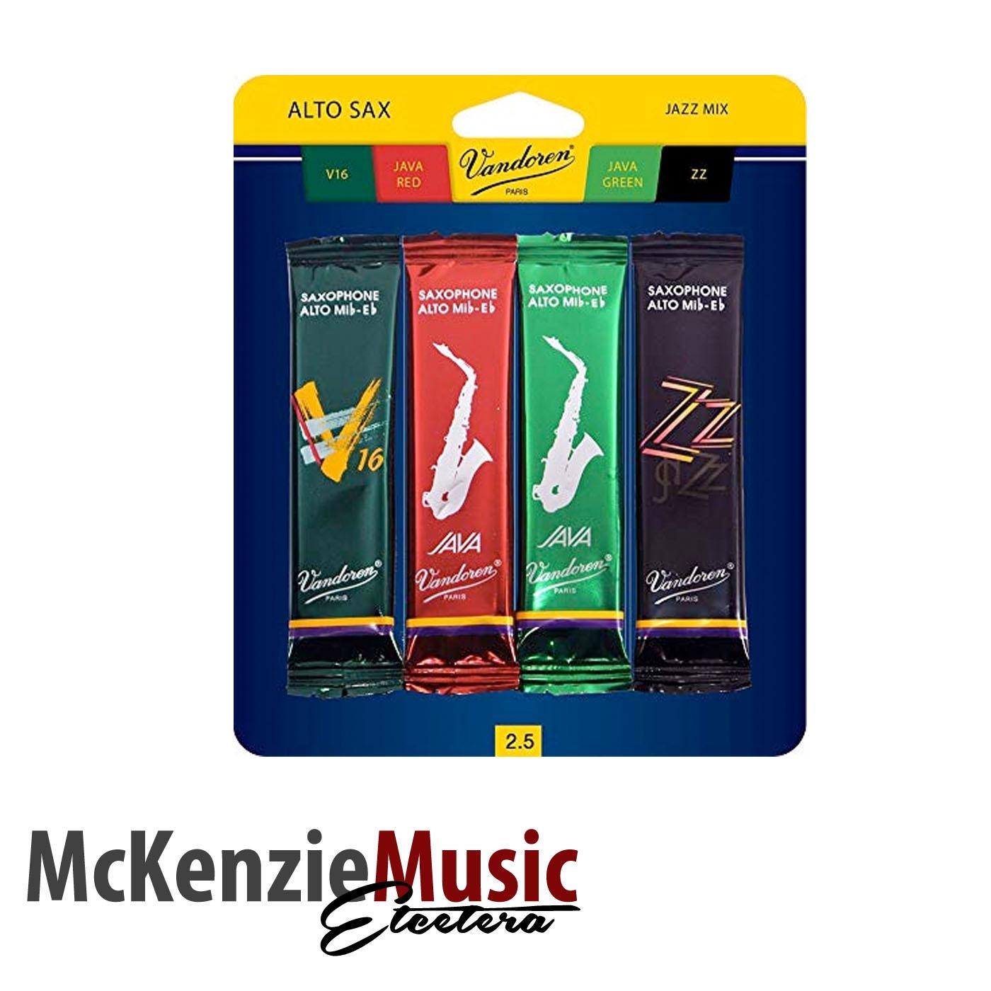 Vandoren Jazz Alto Sax Reed Mix Pack