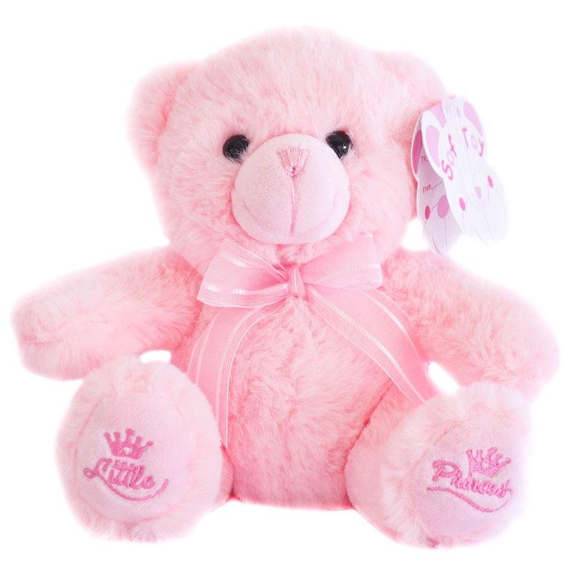 18cm Pink Teddy Bear w/Little Princess Emblem