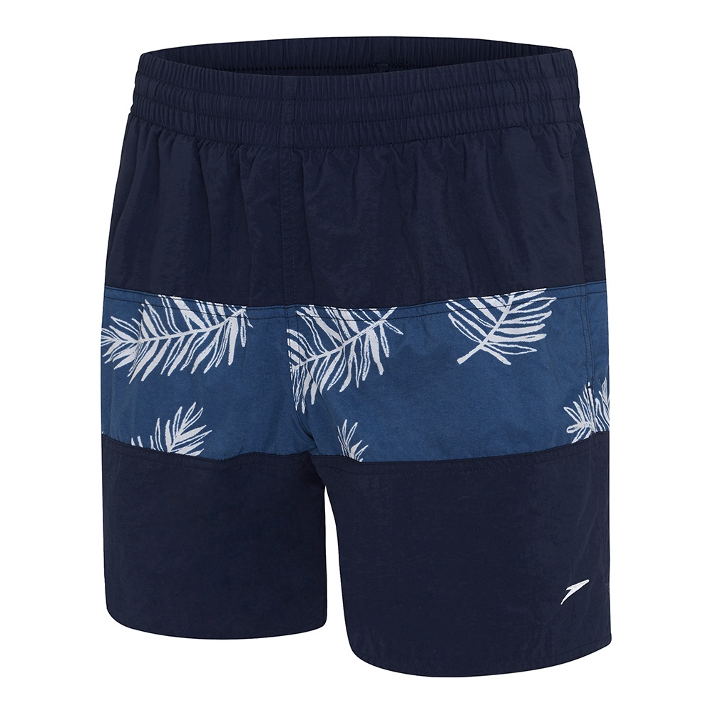 Mens Classic Panel Watershort Speedo Navy/Raffia Mariner