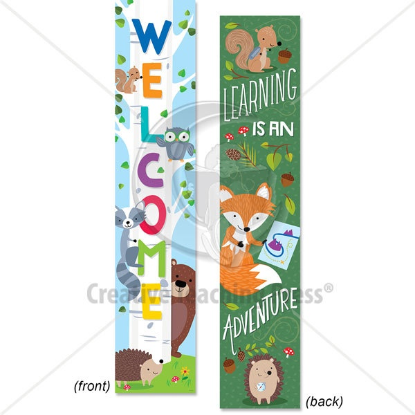 CTP 8148 WOODLAND FRIENDS 2 SIDED BANNER