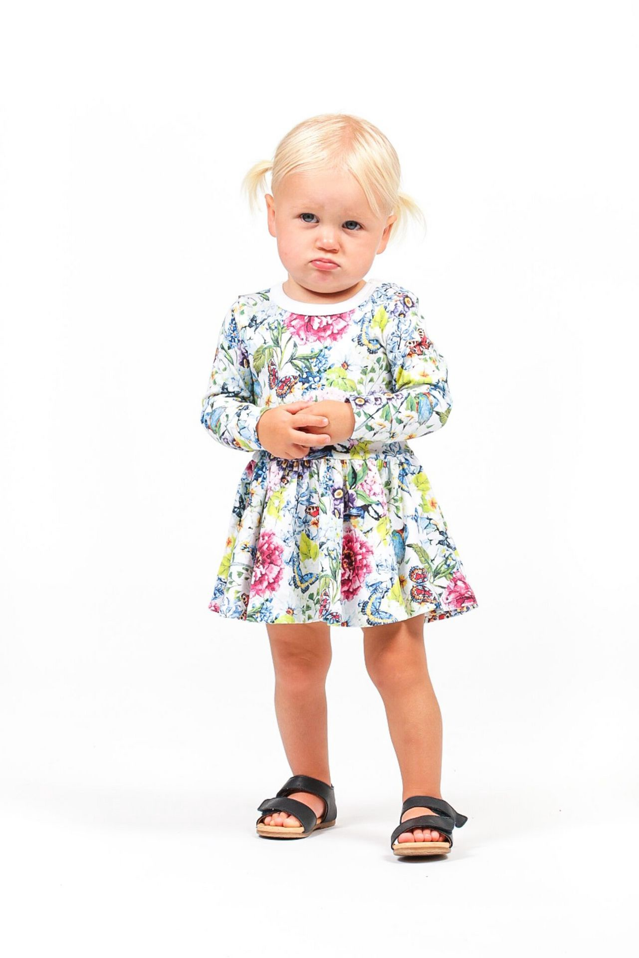 RYB COUNTRY GARDEN LS Waisted Dress