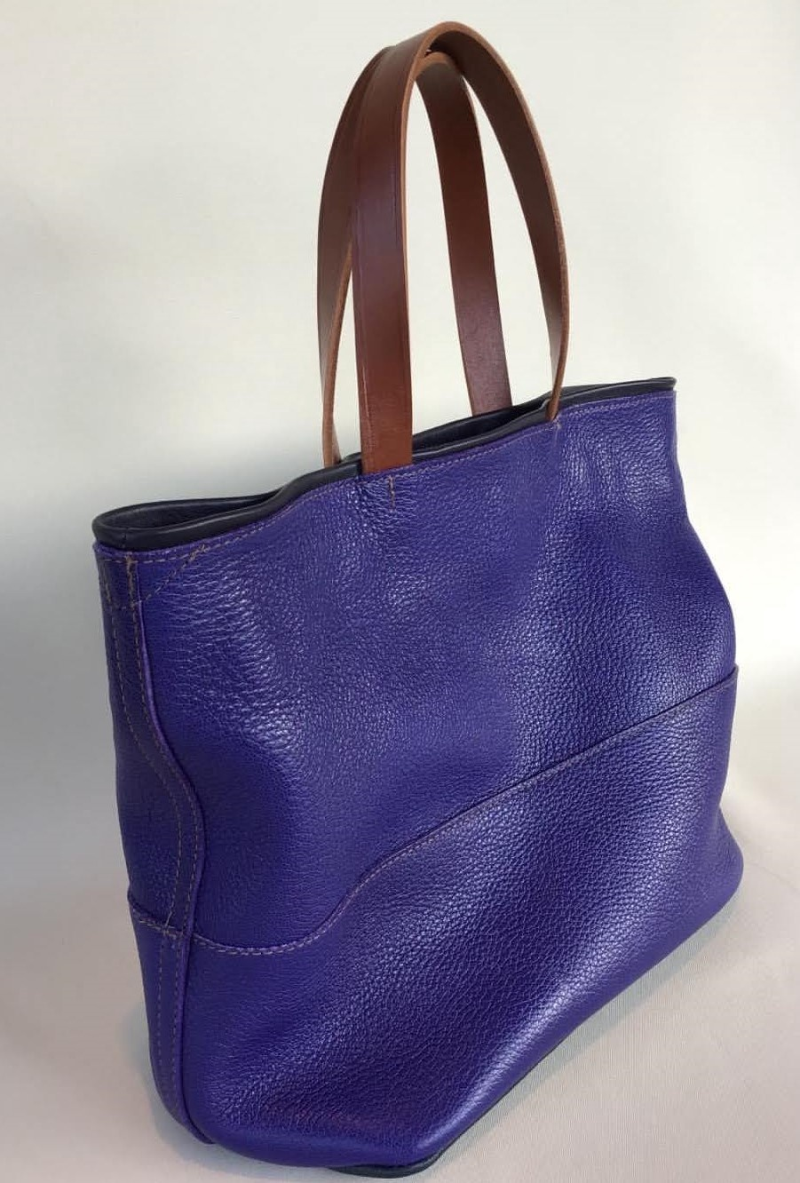Louvre Bag - Purple Leather