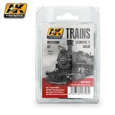 AK Interactive #AK7000 Locomotive and Wagon Weathering Set